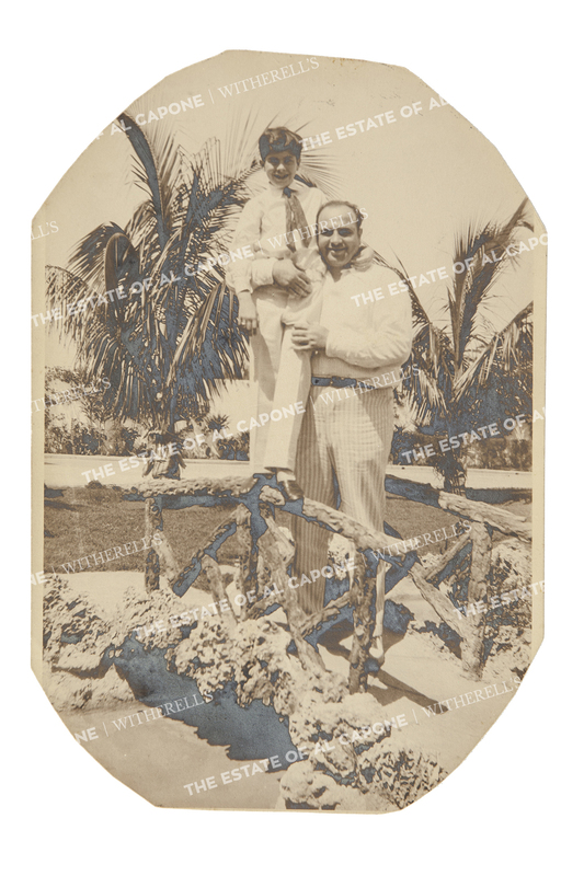 Vintage Silver Print Photograph of Al Capone and Sonny Capone