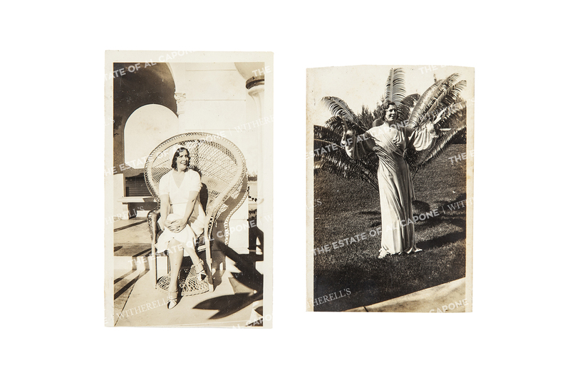 Two Vintage Silver Print Photographs of Mae Copone