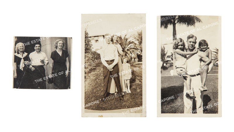 Three Vintage Silver Print Photographs of Capone Family and Friends