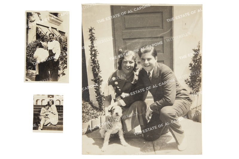 Three Vintage Silver Print Photographs Sonny and Mae Capone