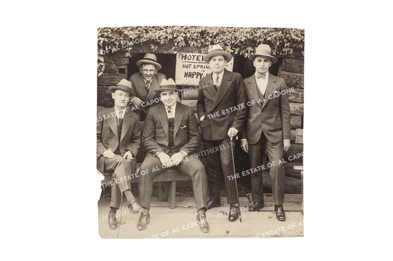 Vintage Silver Print Photograph of Al Capone and Associates at Hot Springs, Arkansas