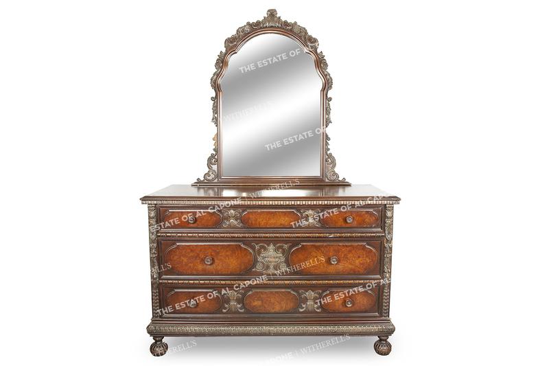 Al and Mae Capone's Decorative Dresser and Mirror
