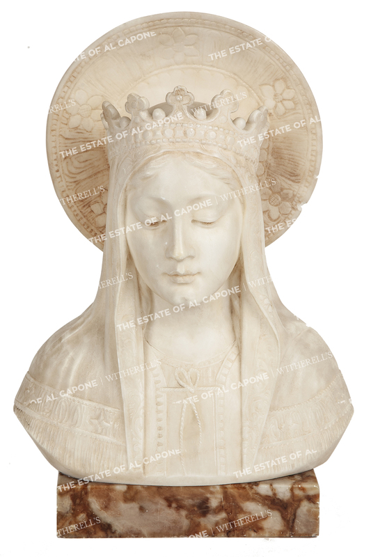 Al and Mae Capone's Marble Madonna Bust