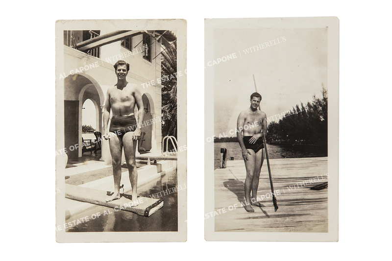 Two Vintage Silver Print Photographs of Sonny Capone in Bathing Suit