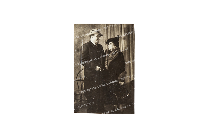 Vintage Silver Print Photograph of Al Capone and His Mother, Theresa