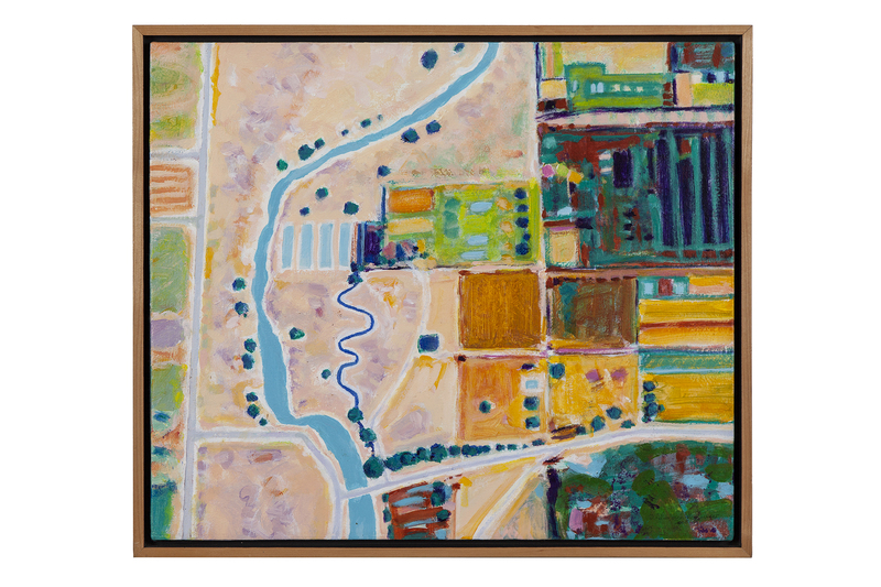 """Imi Lehmbrock Hershberger Painting, """"River and Fields"""""""