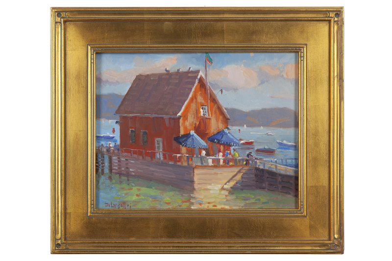 "Silvio Silvestri (b. 1948) Painting ""Chambers Landing, Lake Tahoe"""