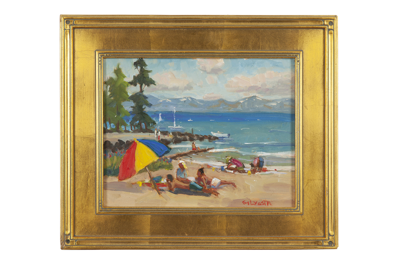 "Silvio Silvestri (b. 1948) Painting, ""North Shore Lake Tahoe"""
