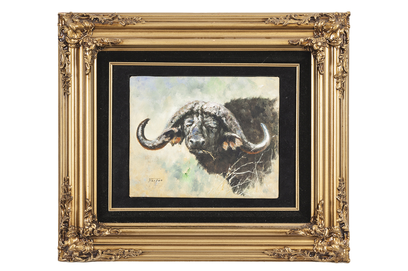"""Eric Forlee (b. 1949) Painting """"Buffalo Face Study"""""""