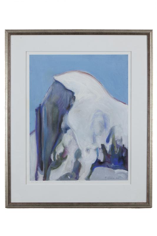 "Gregory Kondos (1923-2021) Lithograph ""Half Dome (in Snow)"""
