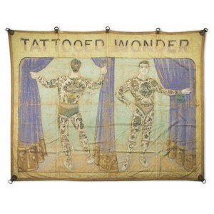 Tattooed Wonder Promotional Sideshow Banner