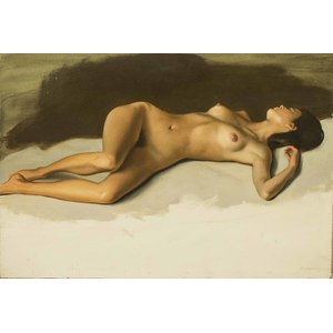 Jesse W. Corsaut, Reclining Female Nude