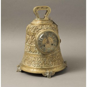 Japy Freres Bronze Bell Form Clock
