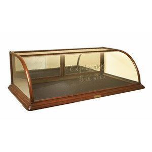 Wood and Bent Glass Advertising Showcase