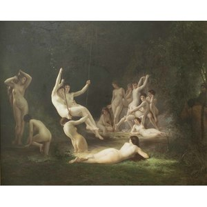 Painting, after William Bouguereau,
