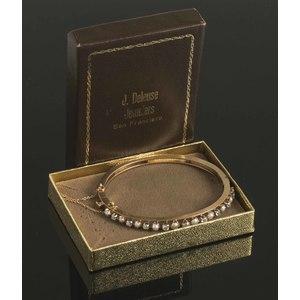 Pearl Diamond 14k Gold Bracelet