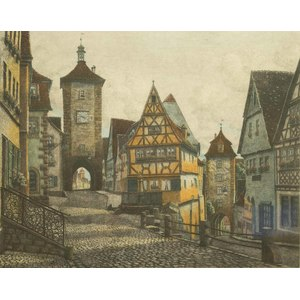 Ernst Geissendorfer (1908-1993) Color Etching -