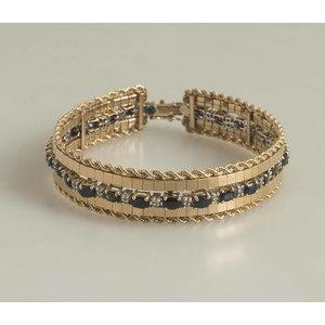 Sapphire Diamond  Bracelet & 14k Gold Jacket