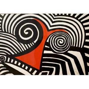Alexander Calder Lithograph, Red Nose, 1969