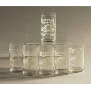 Six Buffalo Brewing Glasses