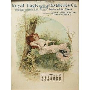 Royal Eagle Distilleries Advertising Calendar San Francisco