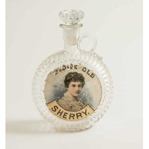 Label Under Glass Sherry Backbar Bottle