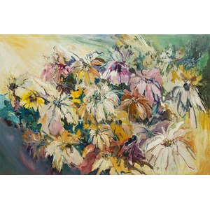 Abstract Floral Still Life Painting,