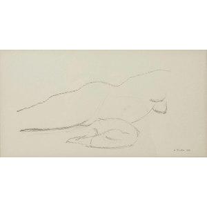 Gregory Kondos (California, b. 1923) Graphite on Paper Sketch