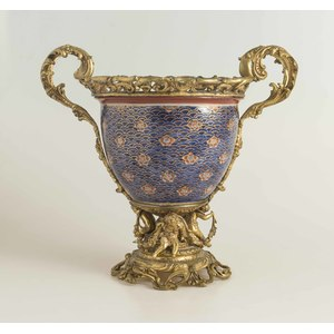19th Century French Jardiniere with Bronze Mounts