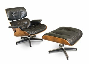 Charles and Ray Eames Designed Lounge Chair and Ottoman