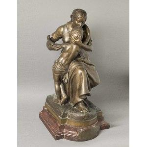 Emile Laporte Bronze, Mother and Child