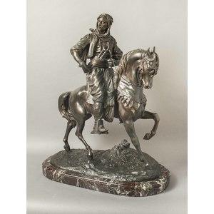 Antoine Barye Bronze, Arab On Horseback