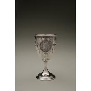 Samuel Jelly (1850-1880) Silver Presentation Goblet