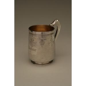 John W Tucker (1852-1886) Coin Silver Mug