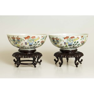 Pair of Ching Dynasty Porcelain Bowls