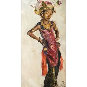 Roland Strasser (Austrian, 1885-1974) Painting of a Balinese Dancer