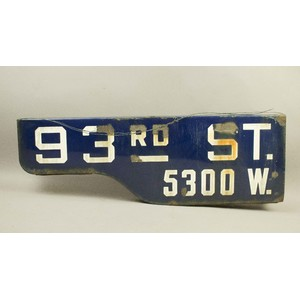 Los Angeles Porcelain Street Sign (1946-1962)