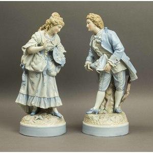 Pair of Meissen Style Figures