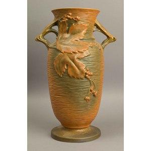 Large Roseville Bushberry Floor Vase