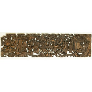 Chinese Carved Wood Panel
