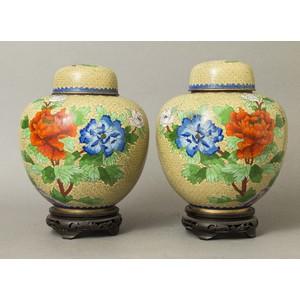 Two Cloisonne Ginger Jars