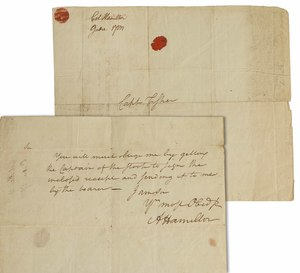 Alexander Hamilton Signed Revolutionary War Document, ca. 1782