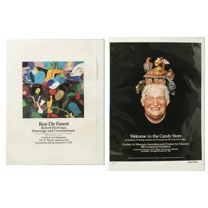 Robert Arneson & Roy DeForest Signed Exhibition Posters