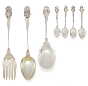 Silver Serving Pieces, Medallion Pattern