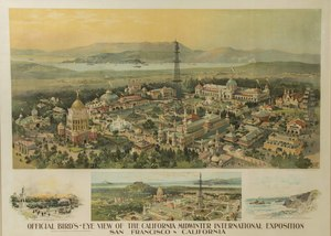 Official Bird's-Eye View of the California Midwinter International Exposition