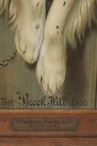 Brook Hill Whiskey Tin Advertising Sign