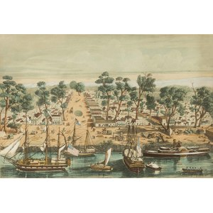 Lithograph View of Sacramento, Louis Le Breton