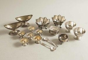 Assorted Silver Salts, Bateman, Gorham, Krider