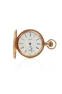 M. Farber San Francisco 14k Pocket Watch, Chain and Stand
