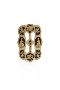 California Gold and Enamel Buckle